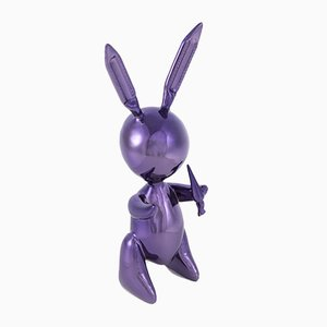 Purple Rabbit Sculpture after Jeff Koons