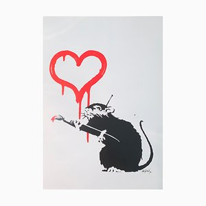 Love Rat Offset Print after Banksy, 2004