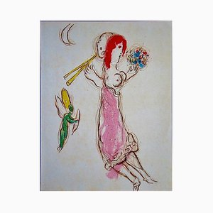 Daphnis and Chloe Lithograph by Marc Chagall, 1960