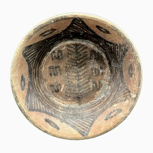 Small Vintage Indus Valley 2700 BC Bowl with Evergreen Decoration by Mehrgarh