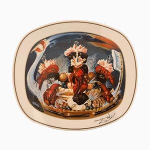 Gala's Dinners Vintage en Porcelaine L'atavisme Désoxyribonucléique 'par Salvador Dali