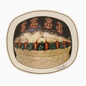 The Plumed Plumes Porcelain after Salvador Dali, 1981
