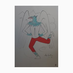 the Griffin Lithograph by Jean Cocteau