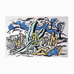 In the Country Lithograph by Fernand Léger, 1952