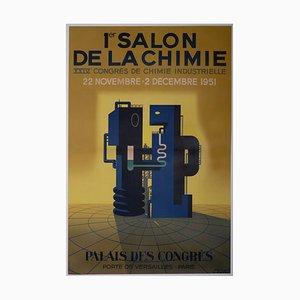Ausstellung der Chemie Lithographie Poster von Paul Colin, 1951