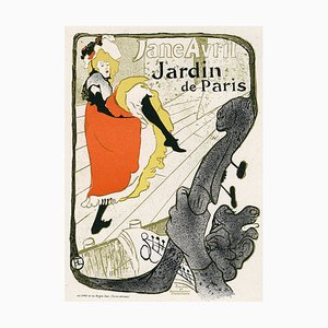 Jane Avril Lithograph by Henri de Toulouse-Lautrec, 1896