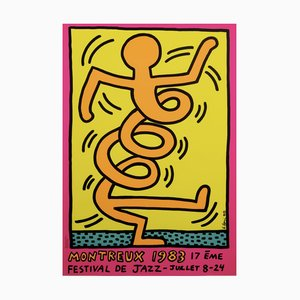 Montreux Jazz Festival Poster by Keith Haring, 1985