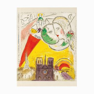 The Sunday Lithograph by Marc Chagall, 1954
