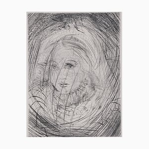 Marguerite Faust Etching by Salvador Dali, 1969