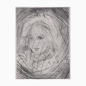 Marguerite Faust Radierung von Salvador Dali, 1969