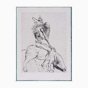 Femme Au Cochon Faust Etching by Salvador Dali, 1969