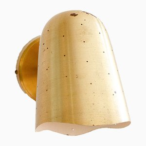 Mid-Century Swedish Perforated Brass Wall Lamp from Boréns