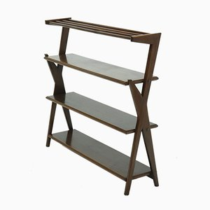 Mid-Century Freestanding Bookcase Shelving Unit, 1960s
