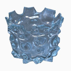 Clear Murano Glass Vase from Barovier & Toso, 1960s