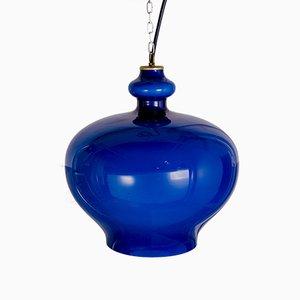Vintage Blue Pendant Lamp by Hans-Agne Jakobsson for Hans-Agne Jakobsson AB Markaryd, 1970s
