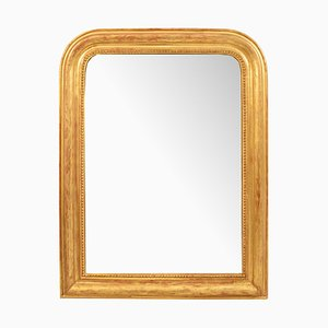 Antique Mirror with Gilded Frame in Pure Gold-Leaf, 1800s