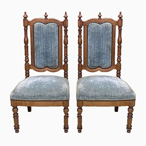 19th Century Cherrywood Side Chairs, Set of 2
