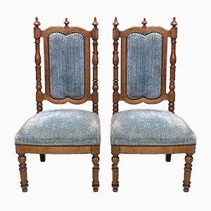 Beistellstühle aus Kirschholz, 19. Jh., 2er Set