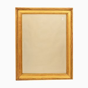Small Antique Mirror with Gilded Frame in Pure Gold, 1800s