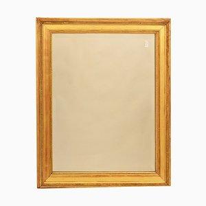 Specchio antico con cornice dorata in oro zecchino, inizio XIX secolo