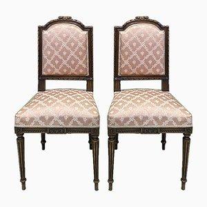 Vintage Louis XVI Stil Esszimmerstühle, 2er Set