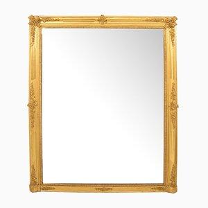 Miroir de Cheminée Début 19ème Siècle avec Cadre Doré