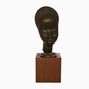 Plain Bronze Bust by Franz Hagenauer, Vienna, 1930s