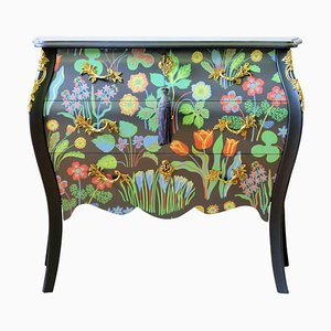 Rococo Floral Painted Bureau from the DaVinci Collection by Josef Frank