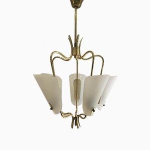 Mid-Century Italian Brass Pendant Lamp, 1950s