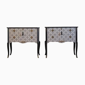 Vintage Art Deco Commodes, Set of 2