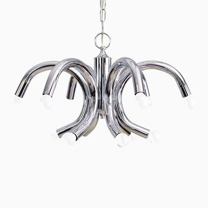 Italian Tubular Chandelier by Angelo Brotto for Esperia, 1960s
