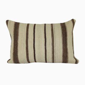 Organic Reclaimed Kilim Lumbar Cushion Cover