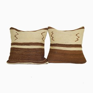Terrific Design Turkish Kilim Cushion Covers, Set of 2
