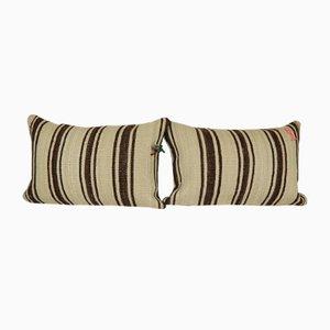 Lumbar Cushion Covers Made from a Mid-20th Century Turkish Hemp Kilim, Set of 2