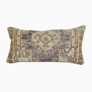 Distressed Animal Soumak Kilim Cushion Cover