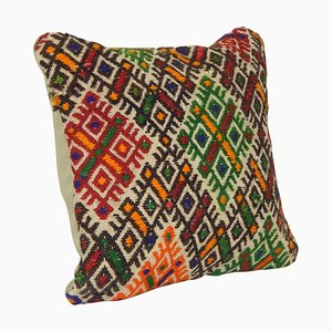 Small Turkish Kilim Cushion Cover