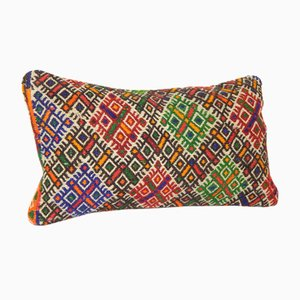 Handwoven Geometrical Lumbar Cushion Cover