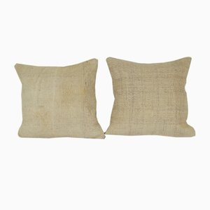 Organic Hemp Wool Turkish Cushion Covers, Set of 2