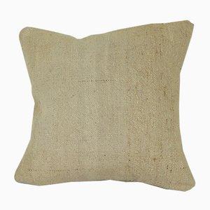 Handgeknüpfter Hanf Kissenbezug aus Organischer Wolle