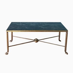 Mid-Century Marble & Brass Coffee Table by Maison Jansen, 1950s