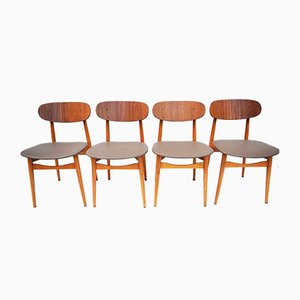 Beech Dining Chairs from Fratelli Reguitti, Italy, 1960s, Set of 4