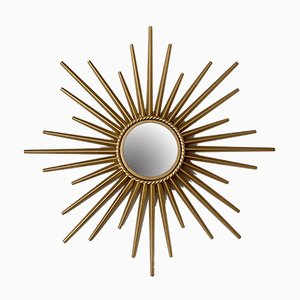 Small Mid-Century Sunburst Mirror by Chaty Vallauris, 1950s