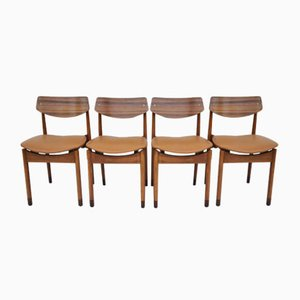 Mid-Century Beech Dining Chairs, Italy, 1960s, Set of 4