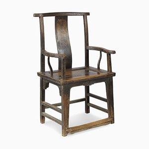 Walnut Yoke Back Armchairs, Set of 2
