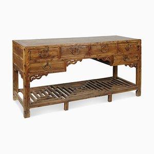 Antique Desk with Lattice Stretcher