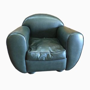 Vintage Green Skai Club Chair
