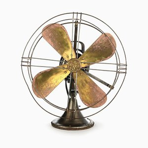 Fan with Brass Blades, 1930s