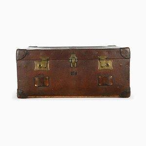 Englischer Pukka Koffer aus Holz & Leder, 1920er