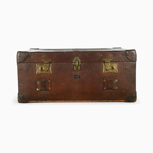 English Wood and Leather Pukka Suitcase, 1920s
