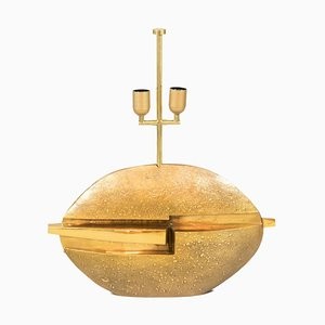 Table Lamp in Gilt Bronze by Pragos, 1970s